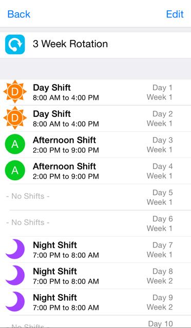 Shift Worker Iphone App